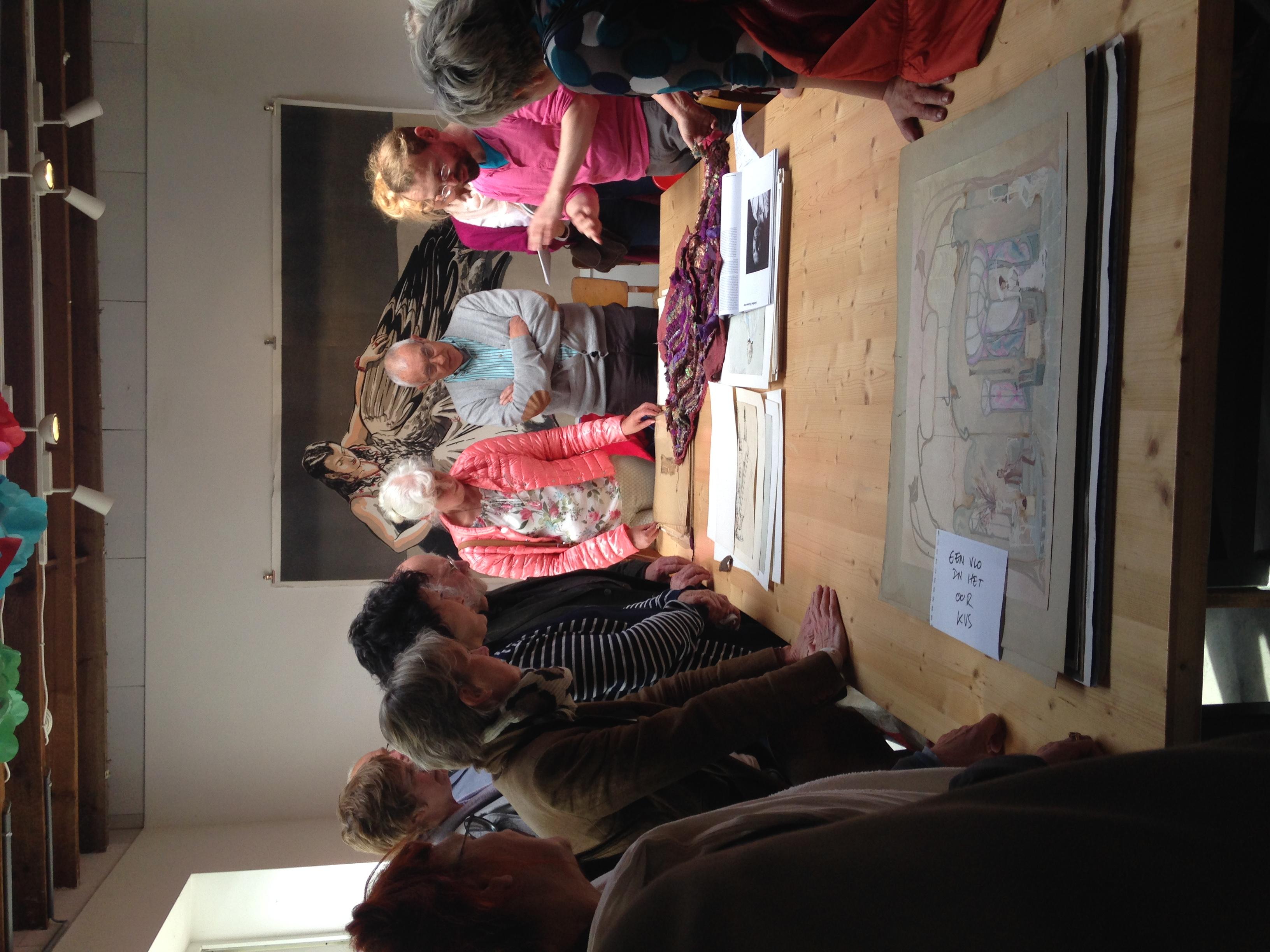 In het voorjaar van 2015 vinden er atelierbezoeken plaats bij vijf kunstenaars en één kunstenorganisatie. Tijdens het bezoek wordt er niet alleen dieper ingegaan op het werk, de aanpak en de visie van de kunstenaar, maar ook op het kunstenaarsarchief.